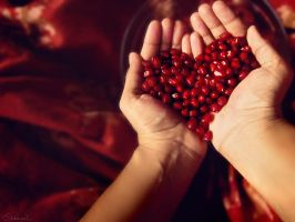 I found love...in a pomegranate! by DebaratiDas