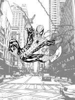 Webthwipping inked Spider-Man by SpiderGuile