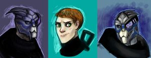 Mass Effect sketches by SIIINS