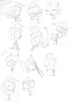 Invader Zim Sketchdump of DOOM! Page 1 by SecretagentG