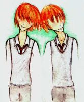 Fred and George by 1ukesama