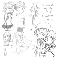 Vocaloid sketch dump by ooglycheez