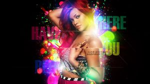 RihannaWallpaper Where Have you been by AleexSteeven