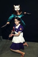 Bioshock : Splicer and Little sister by Nani-Dechuka