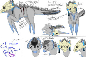 Nyac the Demon Refrence Sheet by Bloody-Syringe