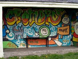 Cromarty bus shelter by piglet365