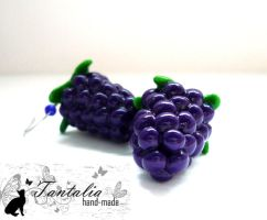 "Earrings ""Blackberries"" by Tantalia"