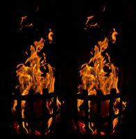 Bonfire :: Cross View 3D :: by zour