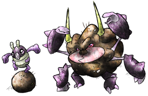 Dung Beetle Fakemon by T-Reqs