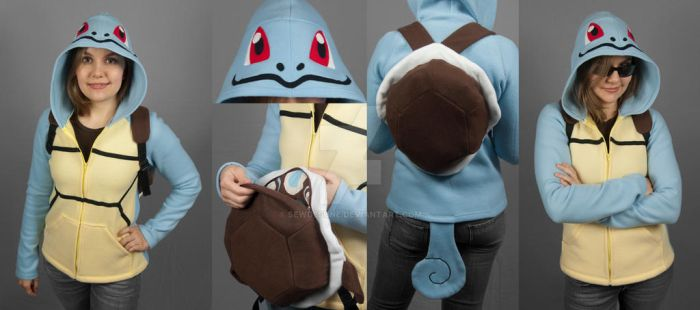 Squirtle Hoodie with Shell Backpack by SewDesuNe