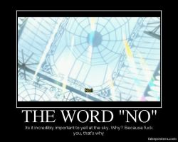 The Word No by RavenSnipper