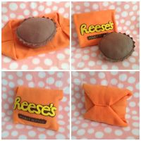 Reeses Peanut Butter Cup Candy Pillow (Fun Size) by MadameWario