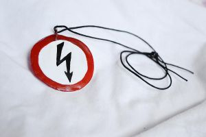 Marilyn Manson shock symbol by AnyShapeNecklaces