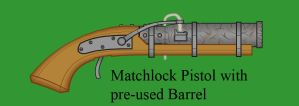 Matchlock Pistol with pre-used Barrel by Imperator-Zor