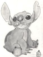 Lilo and Stitch Drawing - 2004 by SurfTiki