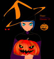 Happy Halloween Humans by sharkgirl98