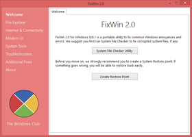 FixWin 2.0 by parassidhu