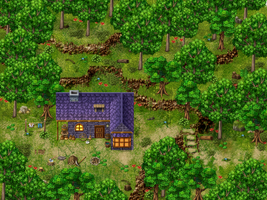 Forest RPG Maker Parallax Map by Sillouete