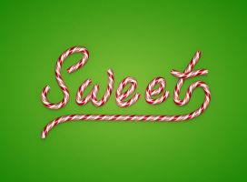 Christmas Candy Text Effect in Illustrator by Designslots