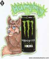 Humphrey Monster Badge Commish by ZinStone