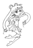 :LINEART: Oh, That Sailor Moon by panchan14