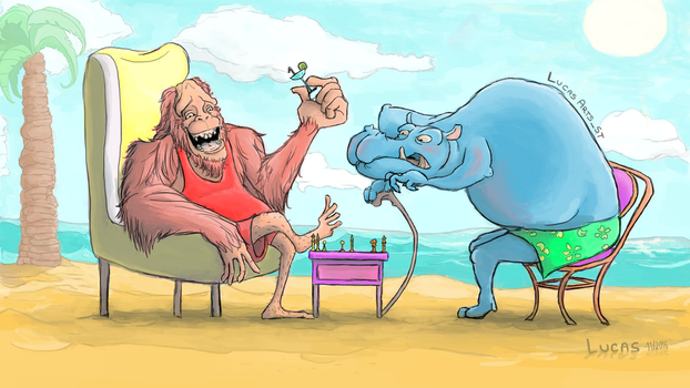 Chess at the beach by LucasArtsST