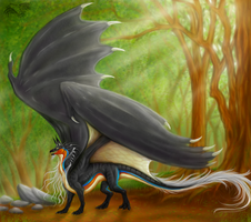 Forest dragon by yamiyo