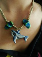 Whale Pendant by PoisonJARCreations