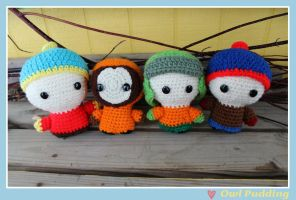Crochet South Park Gang by Ashler-Sauce
