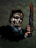 Micheal Myers colored by Paul by whiteeye