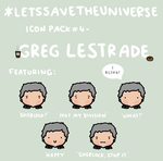 Greg Lestrade Icon Pack by LetsSaveTheUniverse