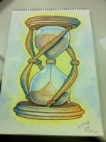 Hourglass Watercolor by Teryakisan