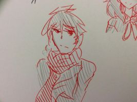 shintaro with Red scarf by tinysnows