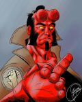 Hellboy sketch. Sketchbook Pro  MediBang  by JulianoSousa