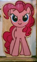 Pinkie Pie plywood standup by scorchedwing