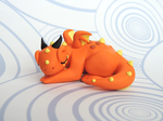 Sleepy Baby Dragon by KuddlyKreatures