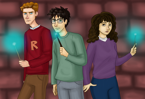 The Golden Trio by Puddum