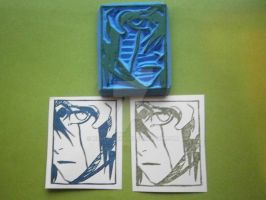 Bleach - Handmade Rubber Stamp by XluciferXX