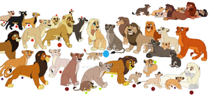 Some Lion characters by petshop101