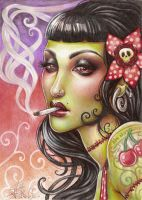 Zombies can smoke by Medusa-Dollmaker