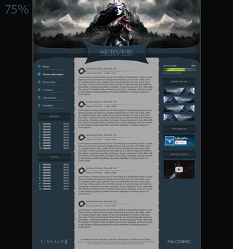 Lineage 2 Website [v25] by FalconHQ