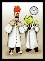 Beaker and Bunsen by purgatoryboy