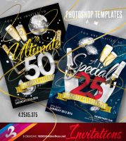 Birthday Celebration Invitation Templates 1 by AnotherBcreation