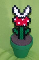 Small Perler Piranha Plant by Jennifer-EA