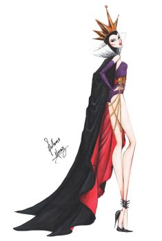 Evil Queen in Haute Couture by Guillermo Meraz by frozen-winter-prince