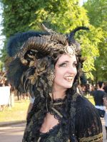 Stock - Vampire Queen gold and black Horns 4 by S-T-A-R-gazer