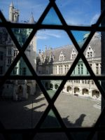 Pierrefonds Castle - Camelot courtyard view by MorgainePendragon