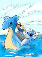 Pokemon! Lapras [Coloring] by Wojako