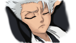 Toshiro Sleeping by c0reja