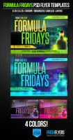 Formula Fridays PSD Flyer Template by ImperialFlyers